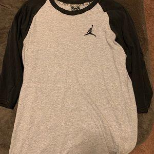 Jordan 3/4 t shirt. Baseball t
